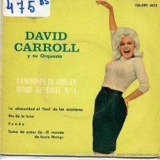 Discos de vinilo: DAVID CARROLL / CANCIONES DE CINE EN RITMO DE BAILE Nº 1 (EP 1963). Lote 53032757