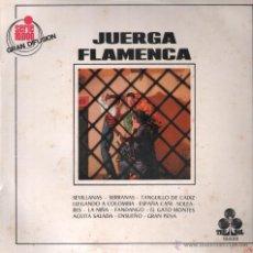 Discos de vinilo: JUERGA FLAMENCA MARUJA BIENVENIDA GRUPO GITANO DEL SACROMONTE LP. Lote 53033959