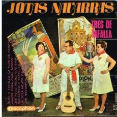 Discos de vinilo: LOS TRES DE TAFALLA - JOTAS NAVARRAS - EP 1965. Lote 53041758