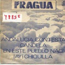 Discos de vinilo: FRAGUA / ANDALUCIA CONTESTA / CANDELA + 2 (EP PROMO 1979). Lote 53044329
