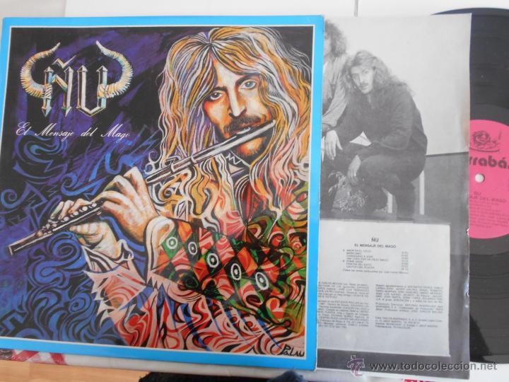 ÑU- LP EL MENSAJE DEL MAGO-ENCARTE LETRAS 1987 (Música - Discos - LP Vinilo - Grupos Españoles de los 70 y 80)