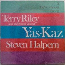 Discos de vinilo: TERRY RILEY, YAS·KAZ, STEVEN HALAREN. A NEW VISION. LP ALEMANIA COMO NUEVO. Lote 53050132