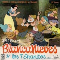 Discos de vinilo: BLANCANIEVES Y LOS 7 ENANITOS WALT DISNEY V.2. Lote 53050144