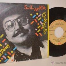 Discos de vinilo: GATO PEREZ - SINGLE - SANTA MARIA - LOS FAVORITOS - 1982 - RUMBA. Lote 53050321
