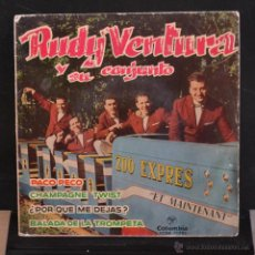 Discos de vinilo: RUDY VENTURA Y SU CONJUNTO. PACO PECO+ 3. COLUMBIA 1962. LITERACOMIC.. Lote 53056819