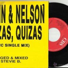 Discos de vinilo: ELKIN Y NELSON SINGLE QUIZAS,QUIZAS-MIX-.HOLANDA 1989.CON POSIBLE FIRMA DE NELSON.VER FOTO. Lote 53062129