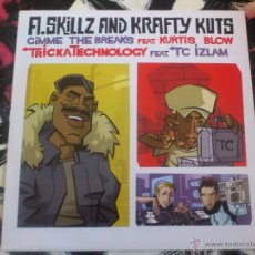 Discos de vinilo: A.SKILLZ AND KRAFTY KUTS - GIMME THE BREAKS - MAXI - VINILO - FINGER LICKIN´- 2003. Lote 53063249