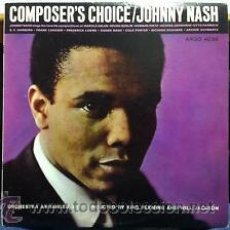 Discos de vinilo: JOHNNY NASH - COMPOSER'S CHOICE 1964 !! RARA 1ª EIC ORG USA. Lote 53063947