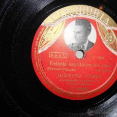 Discos de vinilo: JUANITO VAREA-COLUMBIA:ESTARIA ESCRITO EN MI SINO /DAME DE BEBER SERRANA. Lote 53065131