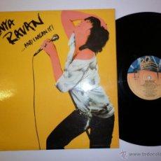 Discos de vinilo: GENYA RAVAN LP 1979 AND I MEAN. Lote 53067060