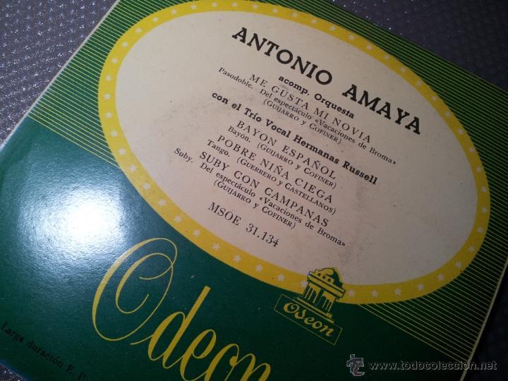 Discos de vinilo: EP 45 RPM / ANTONIO AMAYA / ME GUSTA MI NOVIA /// EDITADO POR ODEON - Foto 2 - 53070505