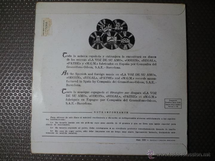 Discos de vinilo: EP 45 RPM / ANTONIO AMAYA / ME GUSTA MI NOVIA /// EDITADO POR ODEON - Foto 3 - 53070505