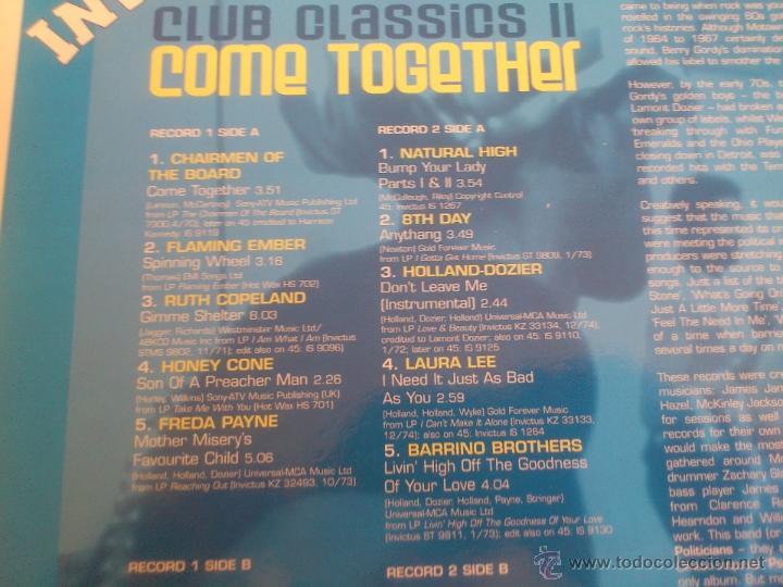 Discos de vinilo: INVICTUS - CLUB CLASSICS II - COME TOGETHER - DOBLE LP - VINILO - SANCTUARY - 2001 - Foto 4 - 53072496