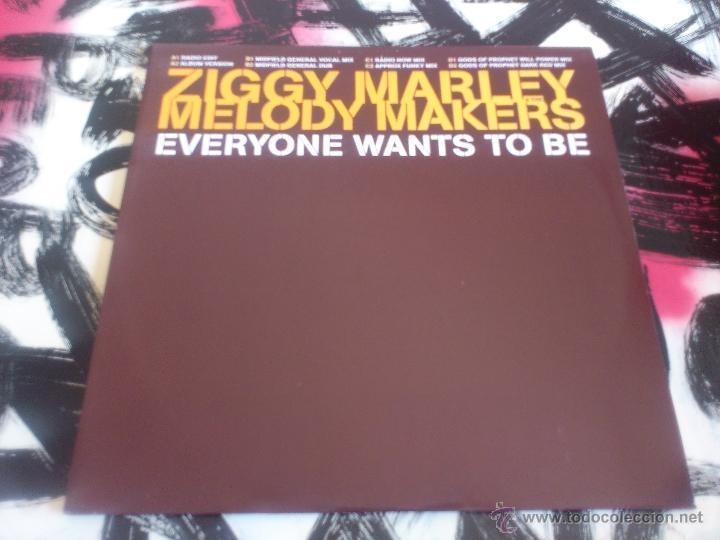 ZIGGY MARLEY & THE MELODY MAKERS - EVERYONE WANTS TO BE - DOBLE MAXI SINGLE - VINILO - PROMO-ELEKTRA (Música - Discos de Vinilo - Maxi Singles - Reggae - Ska)