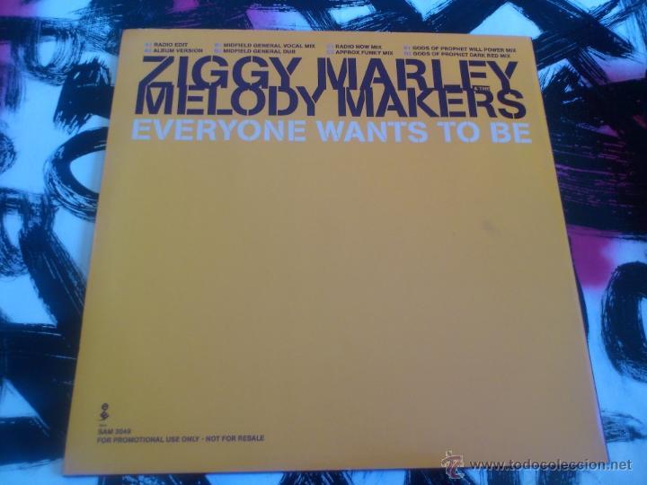 Discos de vinilo: ZIGGY MARLEY & THE MELODY MAKERS - EVERYONE WANTS TO BE - DOBLE MAXI SINGLE - VINILO - PROMO-ELEKTRA - Foto 2 - 53072579