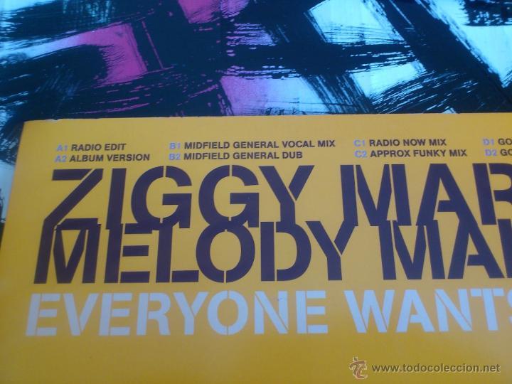 Discos de vinilo: ZIGGY MARLEY & THE MELODY MAKERS - EVERYONE WANTS TO BE - DOBLE MAXI SINGLE - VINILO - PROMO-ELEKTRA - Foto 3 - 53072579