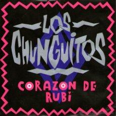 Discos de vinilo: LOS CHUNGUITOS - SINGLE 7'' - CORAZÓN DE RUBÍ + ME VA, ME VA - EDITADO ALEMANIA - 1990 - CON INSERTO. Lote 53076993