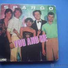 Discos de vinilo: SPARGO YOU AND ME + WORRY SINGLE 1980. Lote 179953481