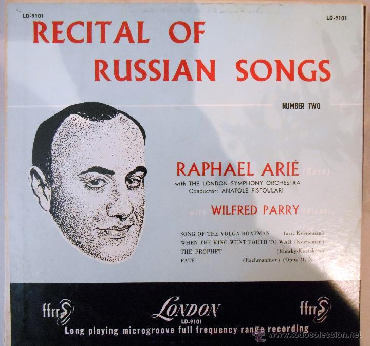 RAPHAEL ARIÉ. AL PIANO:WILFRED PARRY -MUSICA RUSA USA ,5´ 4 TEMAS (Música - Discos - Singles Vinilo - Étnicas y Músicas del Mundo)