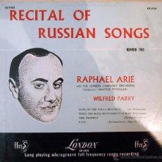 Discos de vinilo: RAPHAEL ARIÉ. AL PIANO:WILFRED PARRY -MUSICA RUSA USA ,5´ 4 TEMAS. Lote 53078412