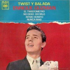 Discos de vinilo: ENRIQUE GUZMÁN, EP, EL TWISTOMETRO + 3, AÑO 1963. Lote 53081483