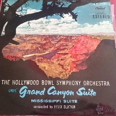 Discos de vinilo: THE HOLLYWOOD BOWL SYPHONY ORCHESTRA - GRAND CANYON SUITE - CAPITOLA - 1960. Lote 53084682