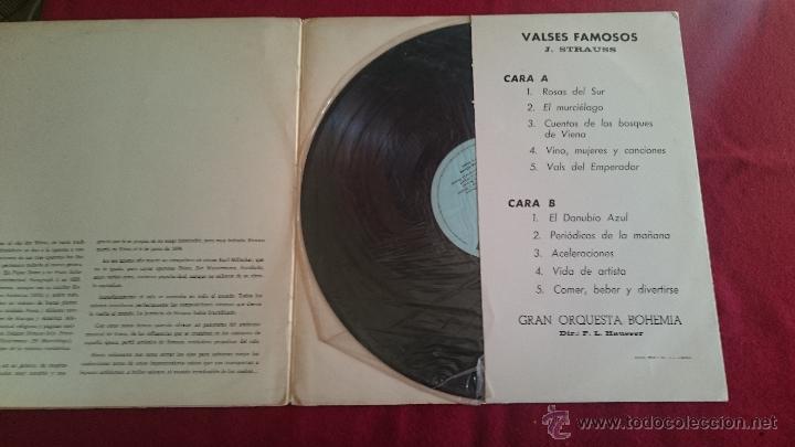 Discos de vinilo: VALSES FAMOSOS - J.STRAUSS - DISCORAMA - 1964 - Foto 2 - 53085417