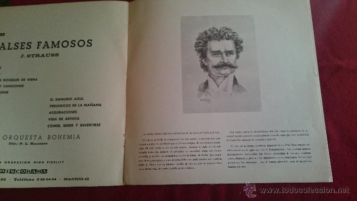 Discos de vinilo: VALSES FAMOSOS - J.STRAUSS - DISCORAMA - 1964 - Foto 3 - 53085417