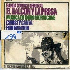Discos de vinil: EL HALCON Y LA PRESA (BANDA SONORA) / CHRISTY CANTA / RUN MAN RUN (SINGLE 1967). Lote 53085852