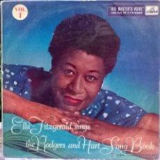 Discos de vinilo: ELLA FITZGERALD. THE RODGERS & HART SONG BOOK VOL 1. MASTER VOICE UK 1951 LP. Lote 53089967