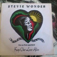 Discos de vinilo: STEVIE WONDER - KEEP OUR LOVE ALIVE - SINGLE - VINILO - MOTOWN - 1990. Lote 53092897