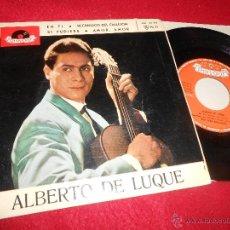 Discos de vinilo: ALBERTO DE LUQUE EN TI/RECUERDOS DEL CALLEJON/SI PUDIERA/AMOR AMOR EP 1963 SPAIN ESPAÑA. Lote 53093895