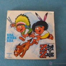 Discos de vinilo: ZIPI Y ZAPE - RISA, MUCHA RISA - SINGLE 1971 - CON TEBEO. Lote 53096275