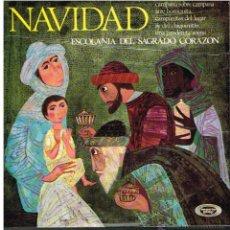 Discos de vinilo: ESCOLANÍA DEL SAGRADO CORAZÓN - NAVIDAD - CAMPANA SOBRE CAMPANA / ARRE BORRIQUITO +3 - EP 1966. Lote 53097284