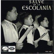 Discos de vinilo: ESCOLANÍA DEL MONASTERIO DE MONTSERRAT - SALVE DE LA ESCOLANÍA - EP 196?. Lote 53097321