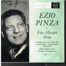 Discos de vinilo: EZIO PINZA - EN CINCO ARIAS DE MOZART - EP 196?. Lote 53097456