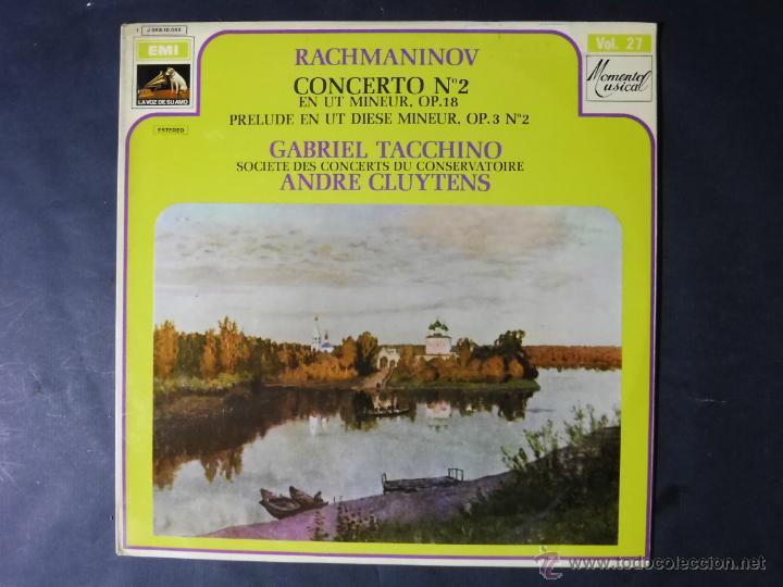 DISCO VINILO RACHMANINOV CONCEERTO N2 EMI LA VOZ DE SU AMO 1964 DCL037 (Música - Discos - Singles Vinilo - Clásica, Ópera, Zarzuela y Marchas)