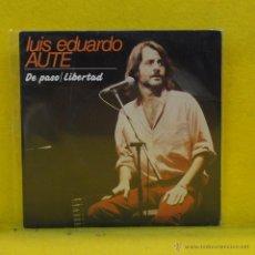 Disques de vinyle: LUIS EDUARDO AUTE - DE PASO - SINGLE. Lote 53104638
