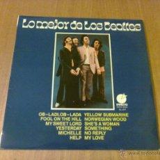 Discos de vinilo: LO MEJOR DE LOS BEATLES (LP IMPACTO EL-077, EDICIONES SONORAS, BARCELONA). Lote 103742007