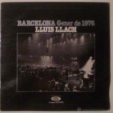 Discos de vinilo: BARCELONA GENER DE 1976, LLUÍS LLACH. VINILO. . Lote 53108502