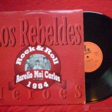 Discos de vinilo: LP - LOS REBELDES - HEROES - URANTIA RECORDS,1991 -. Lote 53124249