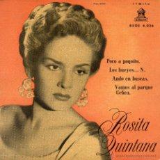 Discos de vinilo: ROSITA QUINTANA, EP, POCO A POQUITO + 3, AÑO 1958. Lote 53125720