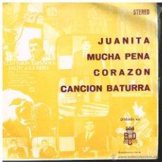 Discos de vinilo: ANTONIO LATORRE - JUANITA / MUCHA PENA / CORAZÓN / CANCIÓN BATURRA - EP 1973 - PROMO. Lote 53132879