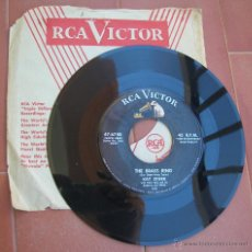 Discos de vinilo: KAY STARR.TOUCH AND GO.-THE BRASS RING.SINGLE RCA VICTOR 47-6748.AÑO 1956.MADE IN U.S.A.. Lote 53133349