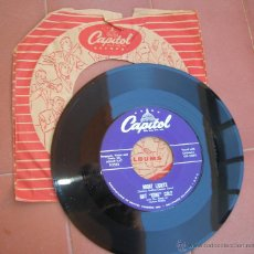 Discos de vinilo: NAT KING COLE.NIGHT LIGHTS.-TO THE ENDS OF THE EARTH.SINGLE CAPITOL F3551.AÑO 1956.MADE IN U.S.A.. Lote 53133706