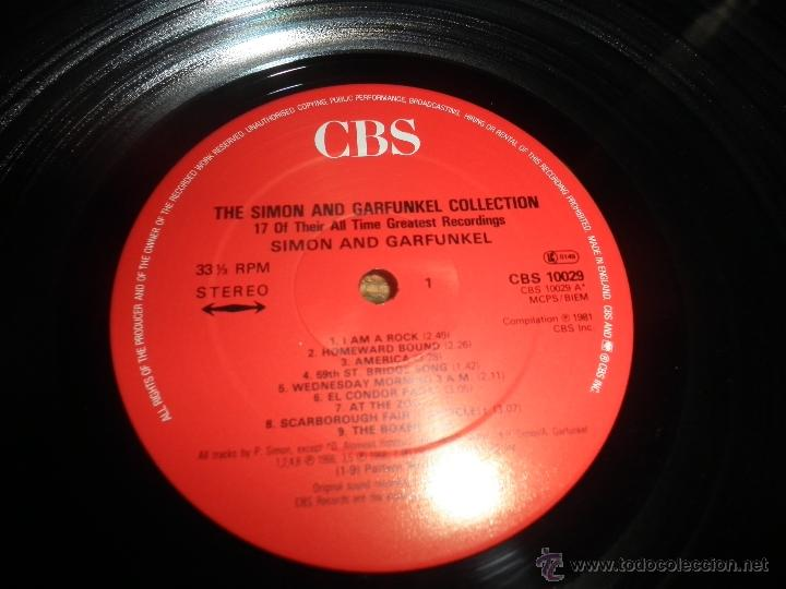 Discos de vinilo: THE SIMON AND GARFUNKEL COLLECTION LP - ORIGINAL INGLES - CBS RECORDS 1981 - MUY NUEVO (5). - Foto 10 - 53135087