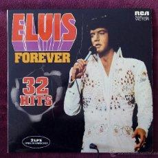 Discos de vinilo: ELVIS PRESLEY, FOREVER 32 HITS (RCA) 2 X LP ESPAÑA - GATEFOLD. Lote 53138255