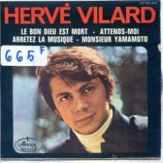 Discos de vinilo: HERVE VILARD / SEÑOR YAKAMOTO / ATTENDS-MOI + 2 (EP 1967). Lote 53140953