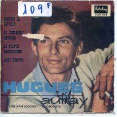 Discos de vinilo: HUGUES AUFRAY / MACKIE EL NAVAJA / LA FLOTTE AMERICAINE + 2 (EP 1960). Lote 53141220