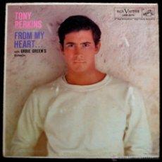 Discos de vinilo: TONY PERKINS - FROM MY HEART 1958 !! RARO LP !! 1ª ORG EDIT USA RCA COLLECTORS, TODO EXC. Lote 53141771